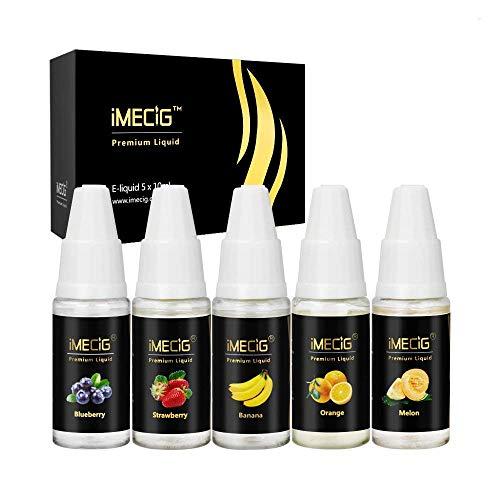 IMECIG® E-Liquids E-LIQUID-BOX Premiumset für E Zigaretten/Elektrische Zigarette/E Shisha, ohne Nikotin (Sommer Früchte)