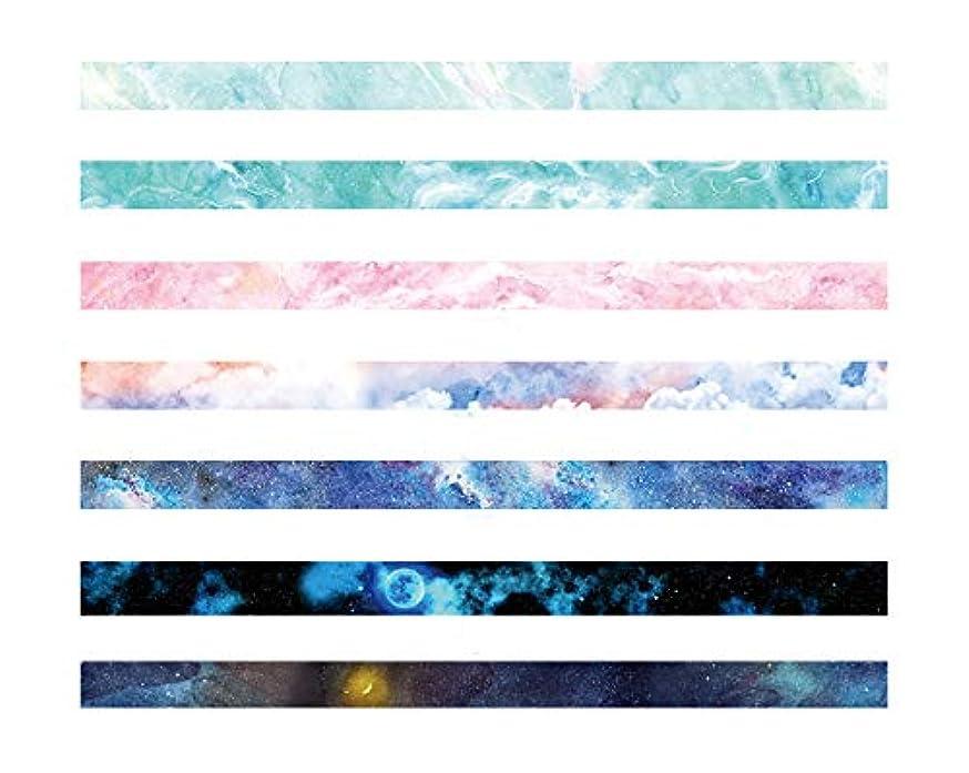 7 Rolls Tape Set Dream,Great for DIY Decor Scrapbooking Sticker Masking Paper Decoration Tape Adhesive School Supplies,15MM Wide DIY Masking Tape