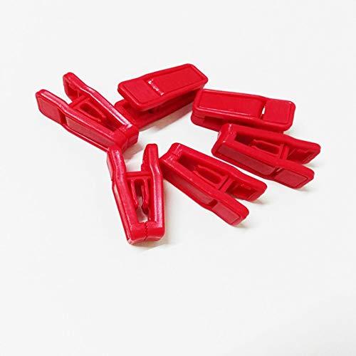 Mazhar 10 Stück Kleiderständer Clips Full Plastic Design Winddichter Kleiderbügel Clip - Rot