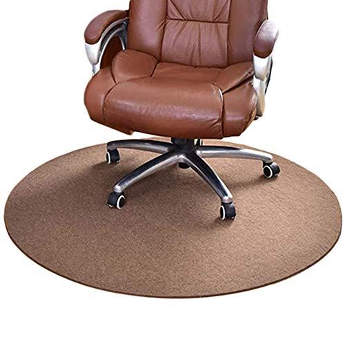 jHuanic Runde Bodenmatte, rutschfester Bodenschutz, Rollstuhl-Teppich, harte Bodenschutzmatte für Tür, Zuhause, Büro, Wohnzimmer (braun, 70 cm im Durchmesser)