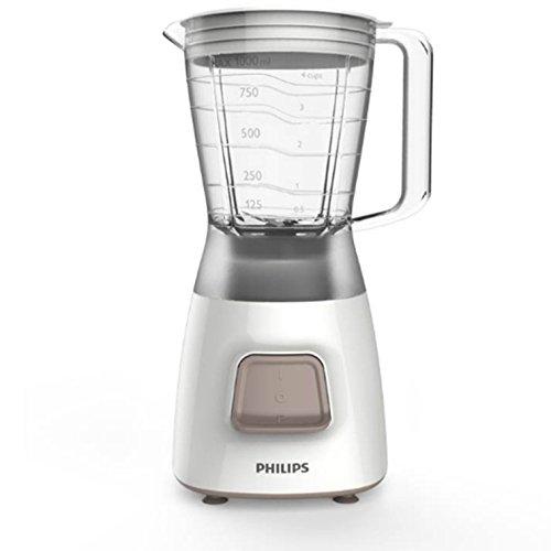 Philips Daily Collection HR2056/00 - Licuadora (1,25 L, Botones, Batidora de vaso, Blanco, De...