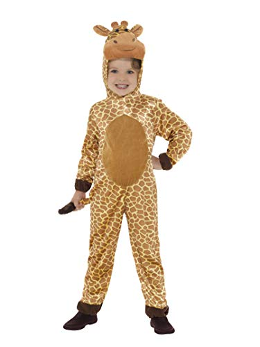 Smiffy's-44421M Disfraz de jirafa, con mono con capucha y cola, color marrn, M-Edad 7-9 aos (44421M)
