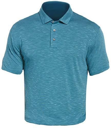 PGA TOUR Herren Short Sleeve Slub Polo Golf-T-Shirt, Untergetaucht, Small