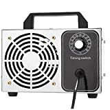 NIDONE Máquina de ozono Purificador de Aire Máquina de ozono Desodorizador de Aire Industrial para el Control de Olor Stop Control DE Plata 10G