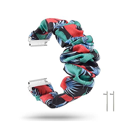 LINMAN Banda de Reloj Inteligente de Tela Suave elástica para reemplazo de Pulsera de Pelo Mujeres (Color : 81)
