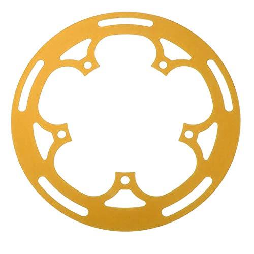 freneci Protector de de Bicicleta de Carretera de Aleación - Protector de Anillo de Cadena BCD 130mm / 52T - de Oro