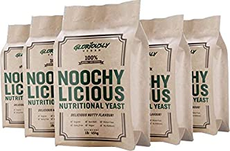 Noochy Licious by Gloriously Vegan - The #1 Best Tasting Nutritional Yeast - 5 x 1lb Mega Value Bag