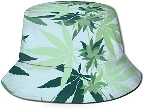 YongColer Bucket Hat Fisherman Hat Hunting Fishing Caps Fashion Style Sports Outdoor Cannabis product image