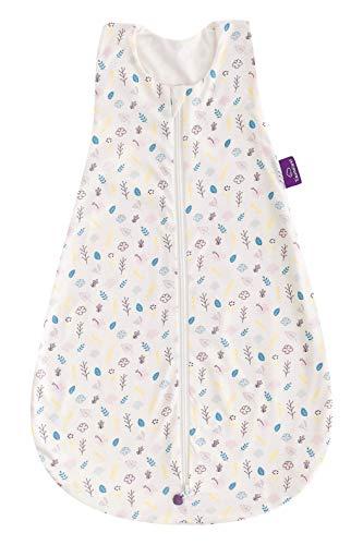 Träumeland S0200905 - Saco de dormir de verano (algodón, 90 cm, 250 g), diseño de flores, multicolor