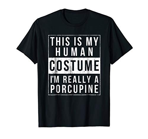 Porcupine Halloween Costume Shirt Funny Easy for kids adults