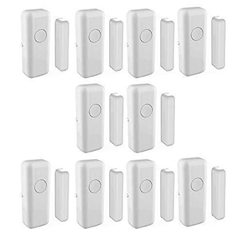 Door Window Alarm, 433MHz Anti-Thief Wireless Window & Door Sensor Indoor Garage Door Sensors for Home and Business Outdoor and Indoor(White Colour, Pack of 10)