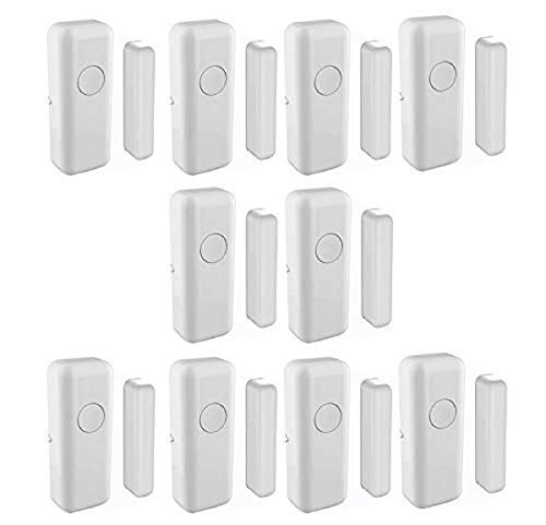 Door Window Alarm, 433MHz Anti-Thief Wireless Window & Door Sensor Indoor Garage Door Sensors for Home and Business Outdoor and Indoor(White Colour, Pack of 10)