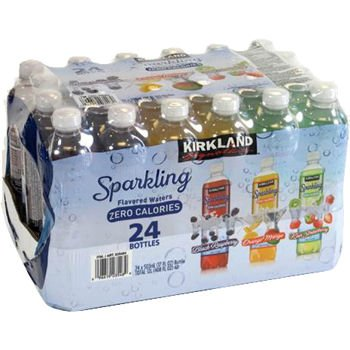 Kirkland Signature Sparkling Water 17 Oz. Bottle Variety 24-pack