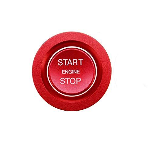 AAlamor Botón De Arranque del Coche Tapa del Interruptor del Motor De Carbono para Land Rover Discovery Sport 2015-2018 - Rojo