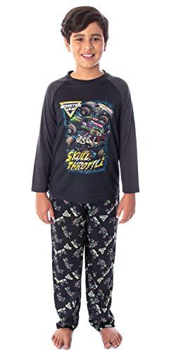 Monster Truck Boys' Skull Throttle Monster Jam Pajama Set (LG, 10/12)