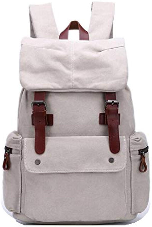 Backpack Vintage Canvas High Density Cotton Ribbon Outdoor Fashion Casual Computer Travel Handbag Shopping