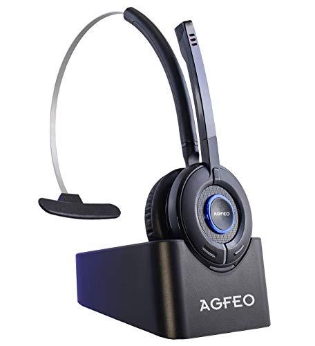 Agfeo 6101543 Monaural-Kopfhörer (DECT-Telefon, Monophon, Kopfband, Schwarz, 7 Stunden)