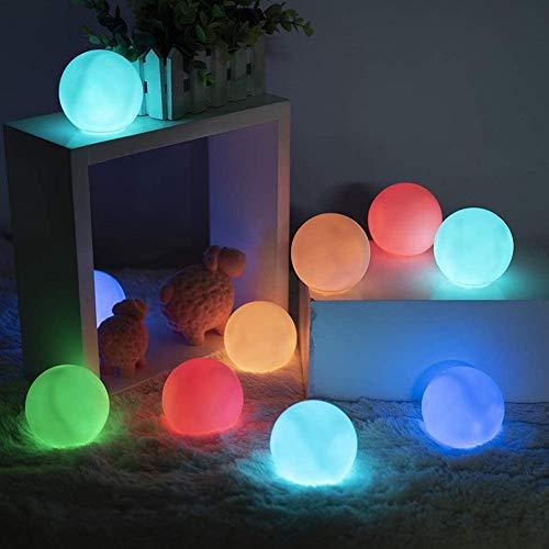 Hilai Schwimmende Pool Licht, Whirlpool-Beleuchtung, schwimmende Pool-Beleuchtung Teich-Ball-Lampe wasserdichte LED-Leuchten mit Fernbedienung für Kinder Geschenk Hochzeitsparty Pool Decor 2 stücke