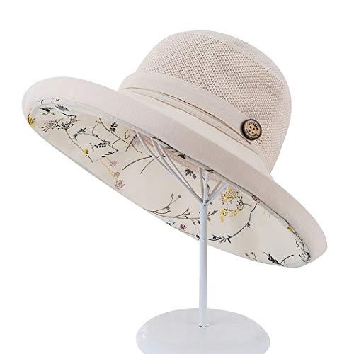 Fascigirl Sombrero De Verano De ala Ancha Transpirable Decorativo De Malla Protectora Doble Capa Sombrero Flexible para Dama Protector De Malla
