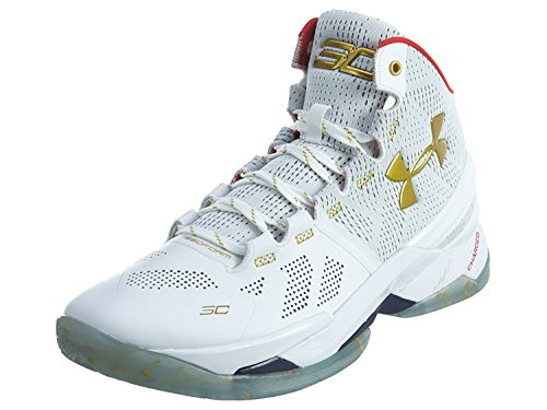 Under Armour 1259007-102 Men UA Curry 2 White/RED/MGO