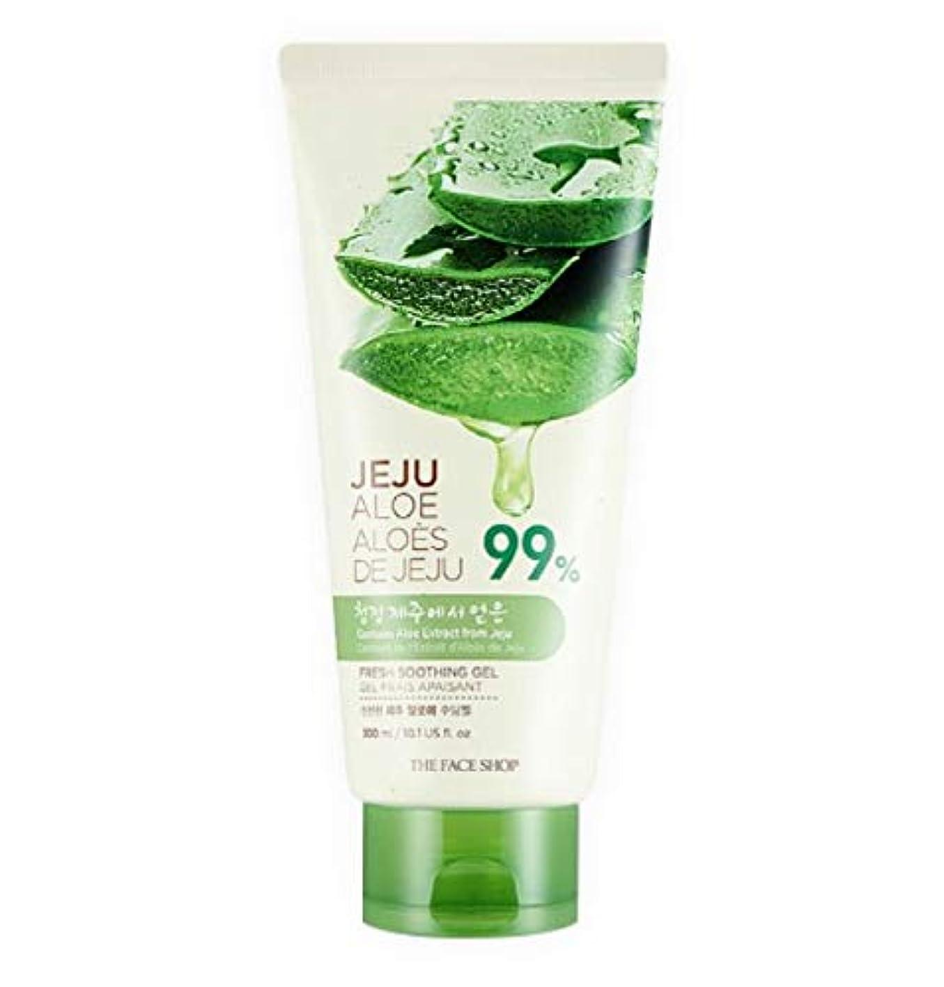 結果訪問ビーチ[Tube Type] THE FACE SHOP Fresh Jeju Aloe Soothing Gel ザフェイスショップ フレッシュ 済州 アロエ スージング ジェル 300ml [並行輸入品]