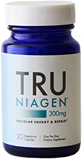 TRU NIAGEN Nicotinamide Riboside - Patented NAD Booster for Cellular Repair & Energy, 300mg Vegetarian Capsules, 300mg Per Serving, 30 Day Bottle