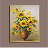 YIYAOFBH Leinwandbild Sonnenblumen Stillleben Poster