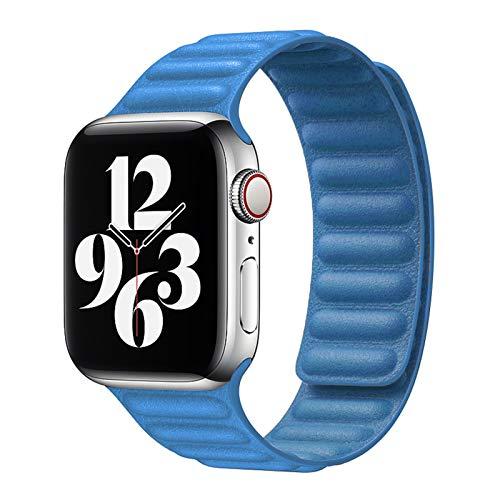 LAAGFC Para Apple Watch se 6 5 4 Bandas de Bucle de Cuero Correa de Reloj de Reloj Transpirable Pulsera para iWatch Series 6 5 4 3 40 44mm 38mm 40mm 42mm