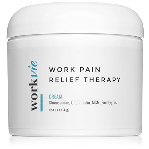 Workvie Pain Relief Cream Therapy [4oz] for Carpal Tunnel, Back Pain, Neck Pain