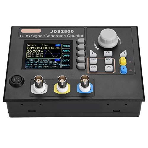 Generador de señal,JDS2800 AC100-240V Función DDS de doble canal Generador de señal digital de forma de onda arbitraria 266MSa/s Medidor de frecuencia Generador de fuente de pulso con software(15MHz)