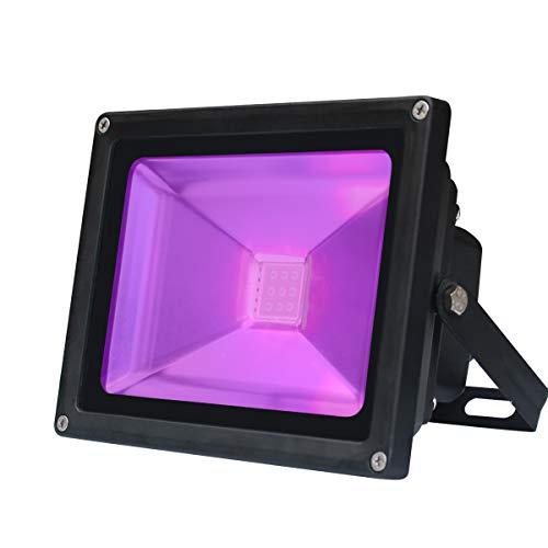 UV Schwarzlicht, 10W Violettes LED Strahler Stadiums Dekoratives Licht, Energiesparendes Wechselstrom-85-265V LED IP65 imprägniern UV-A Niveau...
