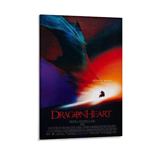 ASDWE Dragonheart Leinwand-Wandkunst, Vintage, klassisches Film-/TV-Poster, Ölgemälde, gedruckt auf Leinwand, für Heimdekorationen, zum Aufhängen für Wohnzimmer, 60 x 90 cm