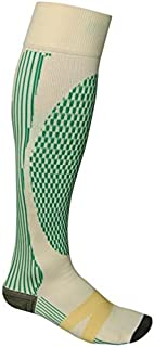 Total Vein Systems BOOST Team Sport 20-30 mmHg Athletic Compression Therapy Socks, 1 pair, Yellow / Green, Size A