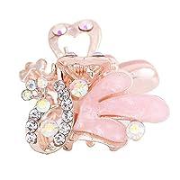 Dressplus クジャクヘアクリップ 小さい 可愛い キラキラ レディース エレガント シンプル レトロ 髪飾り (6)