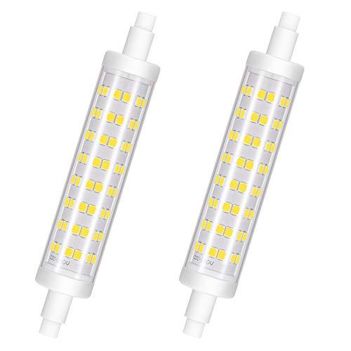 R7S LED 118mm Regulable, Bombilla LED R7S, 10W Equivalente a bombillas halógenas de 100W, 6000K Blanco frío, 960LM, CA 220-240V, CRI 85, Ángulo de haz de 360 °, Sin parpadeo, Paquete de 2, Viaus