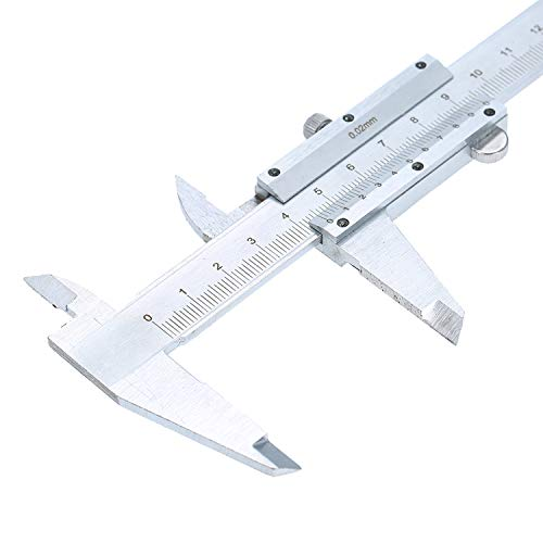 Kecheer - Calímetro Digital de Acero Inoxidable Profesional, Calibre 0-150 mm, Herramienta...