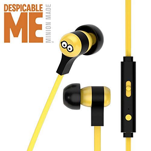 Tribe Minions Auricolari I Cuffie In-Ear Stereo con Microfono per Cellulare e comando multifunzione - Tom