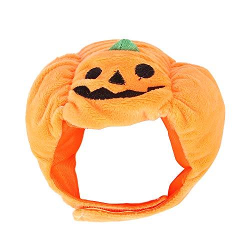 ADJU - Gorro de calabaza para Halloween, diseo de perro y gato, para fiestas, disfraces de Halloween, para gatos, cachorros, perros pequeos