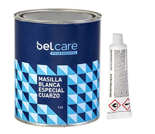 BELCARE - Masilla Blanca Reparadora para unir Superficies de Aglomerado de Silestone y Superficies de Cuarzo - Con Catalizador