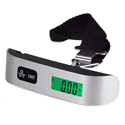 lqgpsx Básculas Digitales 110lb / 50kg Mini Maletas portátiles Báscula para Bolsas de Mano Equipaje Básculas Colgantes de Viaje Báscula de pesaje Bolsillo LCD Digital, China, con luz de Fondo