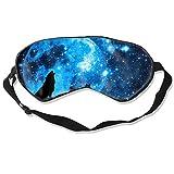 Wolfs Eye Mask for Sleeping, Sleep Mask for Women Men, 99% Blockout Light Eye Cover & Blindfold for Travel, Shift Work, Naps