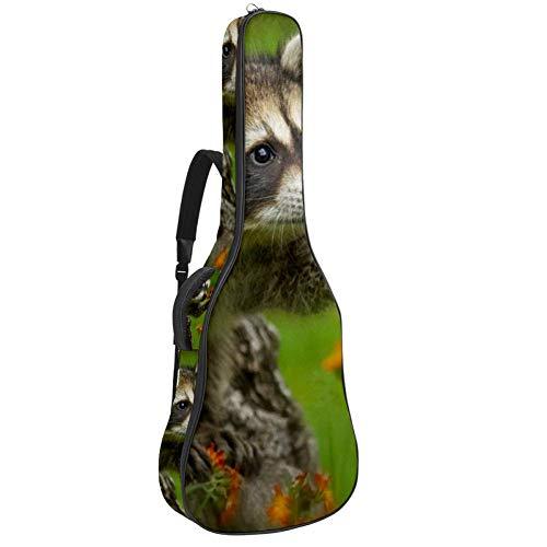 TIZORAX Tasche für Akustikgitarren, orientalisch, chinesisch, goldene Drachen, individueller Druck, Gitarrentasche mit gepolstertem Griff, Schultergurt 42.9x16.9x4.7 in Muster 4