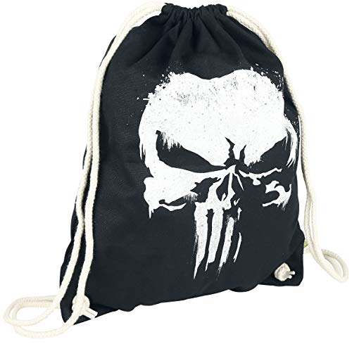 THE PUNISHER - Sprayed Skull logo Tasche Rucksack Turnbeutel Gymbag