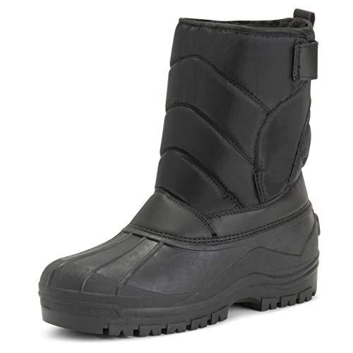Polar Mens Muck Nylon Strap Lace Up Duck Snow Winter Flat Rain Outdoor Boots - 12 - BLK45 YC0147
