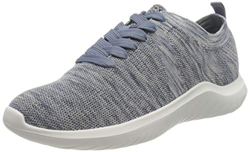 Clarks Nova Glint, Zapatillas Mujer, Color Azul, 37.5 EU