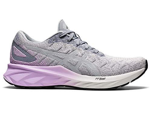 ASICS - Zapatillas de correr para mujer, gris (Piamonte Gris/Chapa Rock), 44.5 EU