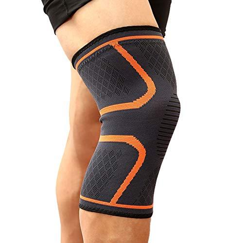 Rodillera para Ligamentos Rodilleras Voleibol Rodilla Almohadillas Rodillera de Soporte de articulación Rodillera para Mujer Rodillera para Pierna Orange,X-Large