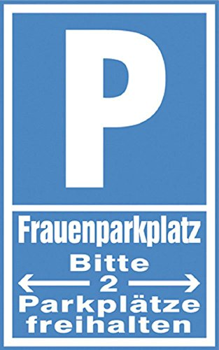 Parkplatz-Schild - FRAUENPARKPLATZ - 308664 - Gr. 40x25cm
