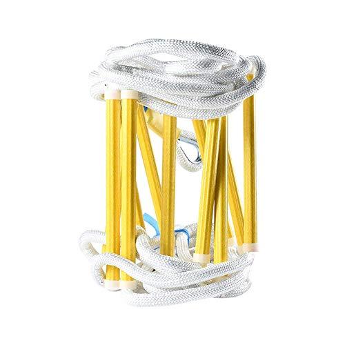 MAYKO Escape Rope Ladder Emergency Fire Herbruikbare Vlamwerende Veiligheid Ladder Duurzame Anti-slip Eenvoudig Te Gebruik & Makkelijk Te Bewaren Voor Kinderen en Volwassenen Ontsnappen uit Raam en Balkon