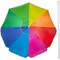 Aktive 62110 - Sombrilla 240 cm protección UV50 Beach - Multicolor